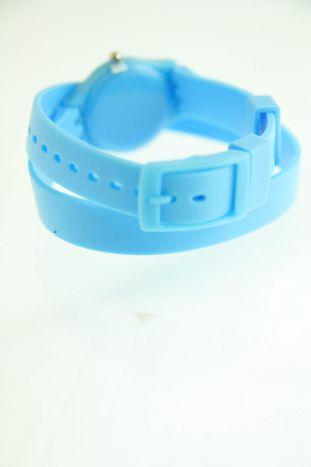Błękitny zegarek damski na silikonowym pasku                                  zdj.                                  2
