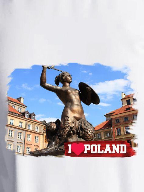 Bluza damska I LOVE POLAND z nadrukiem Warszawy ecru                              zdj.                              2