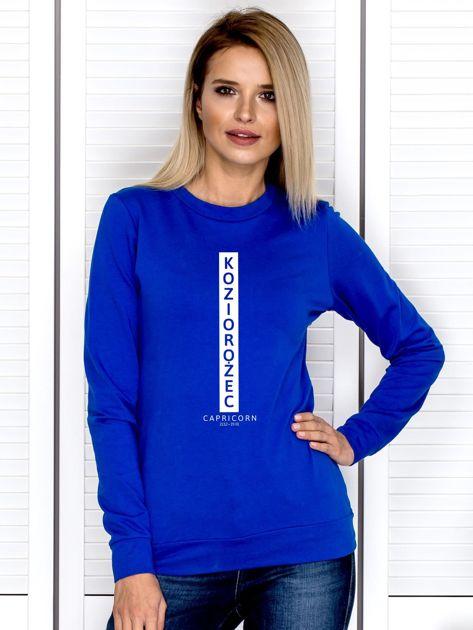Bluza damska KOZIOROŻEC znak zodiaku kobaltowa                              zdj.                              1
