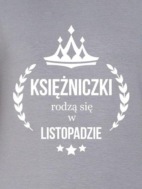 Bluza damska KSIĘŻNICZKA z nadrukiem szara                              zdj.                              2