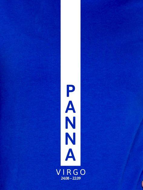 Bluza damska PANNA znak zodiaku kobaltowa                              zdj.                              2