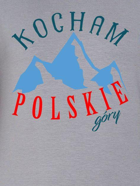 Bluza damska patriotyczna KOCHAM POLSKIE GÓRY szara                              zdj.                              2