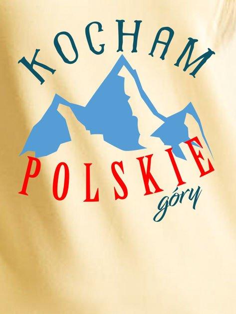 Bluza damska patriotyczna KOCHAM POLSKIE GÓRY żółta                              zdj.                              2