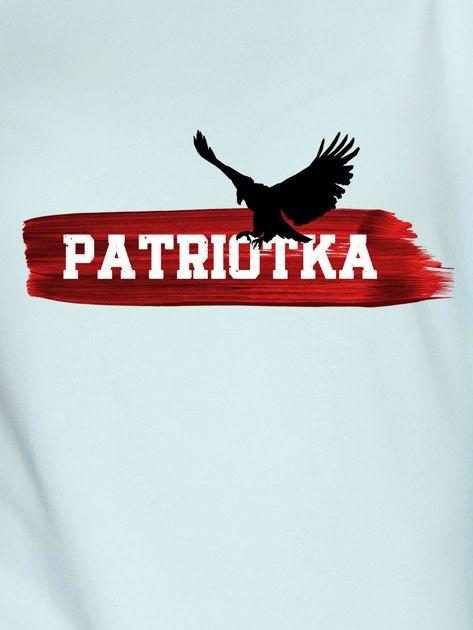 Bluza damska patriotyczna PATRIOTKA z orłem miętowa                              zdj.                              2