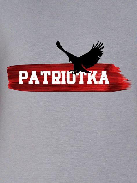 Bluza damska patriotyczna PATRIOTKA z orłem szara                              zdj.                              2