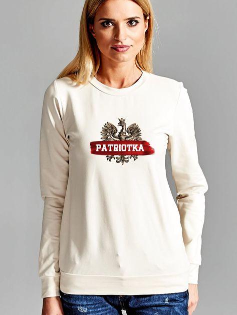 Bluza damska patriotyczna z Orłem Białym PATRIOTKA ecru                              zdj.                              1