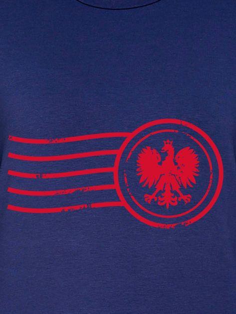 Bluza damska patriotyczna z nadrukiem Orła Białego granatowa                                  zdj.                                  2