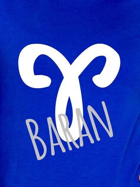 Bluza damska z motywem znaku zodiaku BARAN kobaltowa                              zdj.                              2