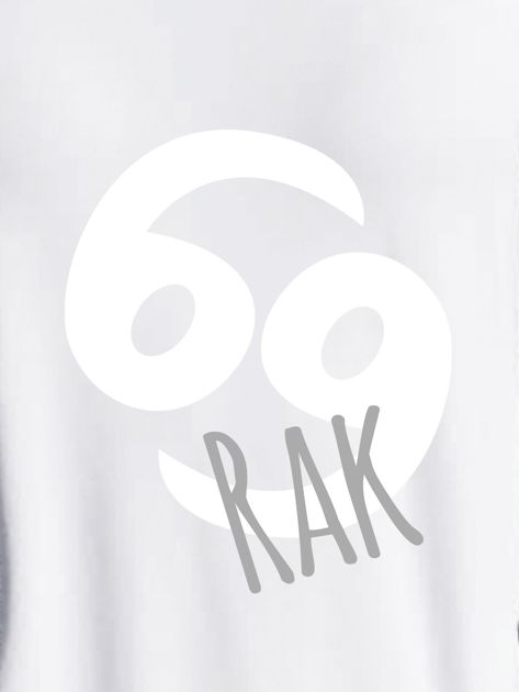 Bluza damska z motywem znaku zodiaku RAK jasnoszara                              zdj.                              2