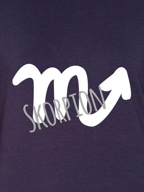 Bluza damska z motywem znaku zodiaku SKORPION grafitowa                              zdj.                              2