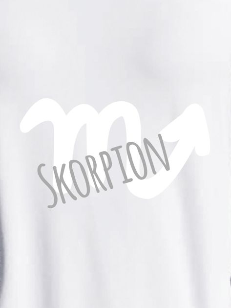 Bluza damska z motywem znaku zodiaku SKORPION jasnoszara                                  zdj.                                  2