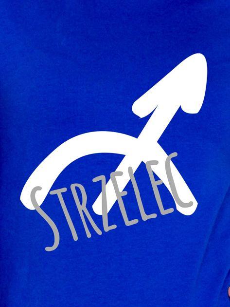 Bluza damska z motywem znaku zodiaku STRZELEC kobaltowa                              zdj.                              2