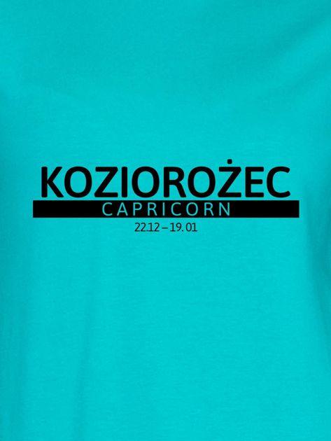 Bluza damska z nadrukiem znaku zodiaku KOZIOROŻEC miętowa                                  zdj.                                  2