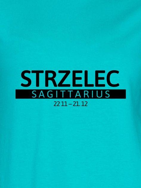 Bluza damska z nadrukiem znaku zodiaku STRZELEC miętowa                              zdj.                              2