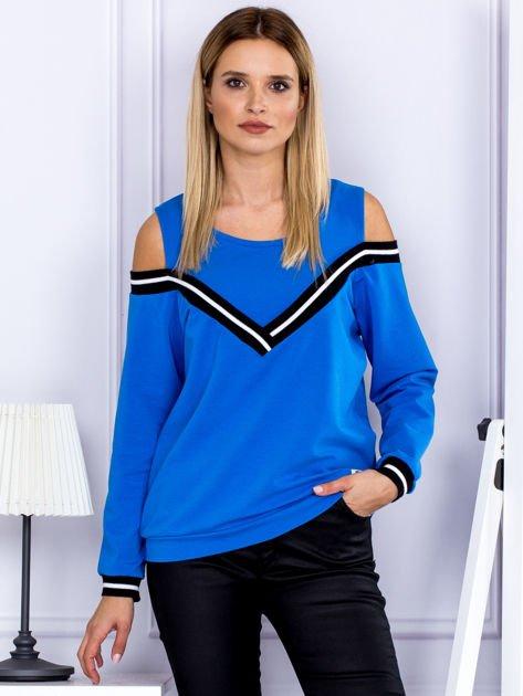 Bluza damska z ściągaczami niebieska                              zdj.                              1