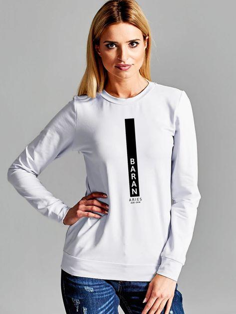 Bluza damska znak zodiaku BARAN jasnoszara                              zdj.                              1