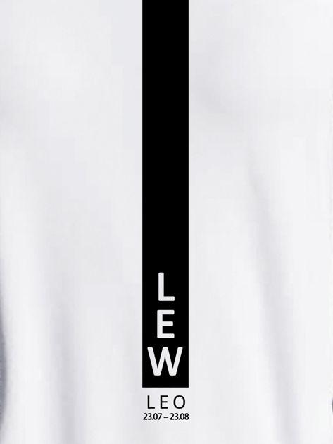 Bluza damska znak zodiaku LEW jasnoszara                              zdj.                              2