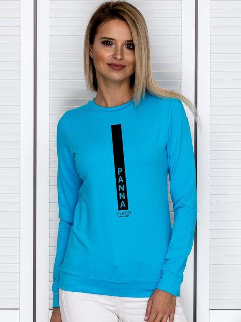 Bluza damska znak zodiaku PANNA turkusowa                              zdj.                              1
