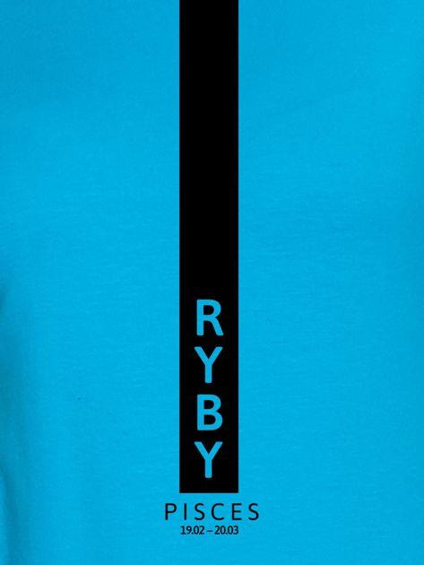Bluza damska znak zodiaku RYBY turkusowa                                  zdj.                                  2