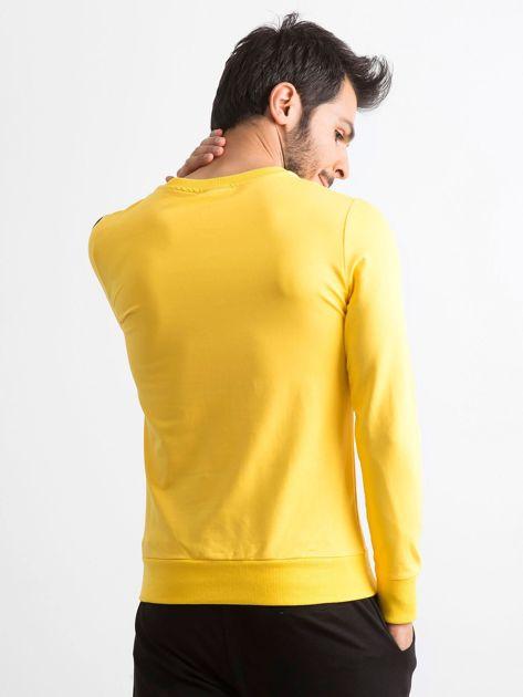Bluza męska z nadrukiem żółta                              zdj.                              2