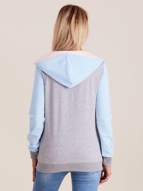 Bluza z kapturem trójkolorowa                              zdj.                              2