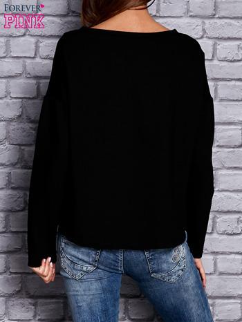 Bluza z motywem gwiazdy czarna                                  zdj.                                  2