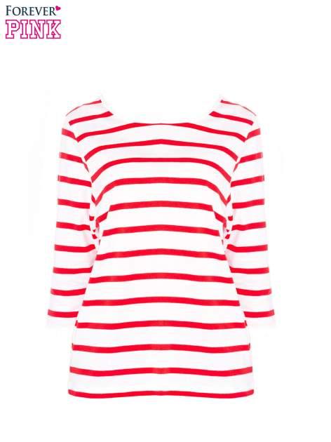 Bluzka basic w biało-czerwone paski                                  zdj.                                  5