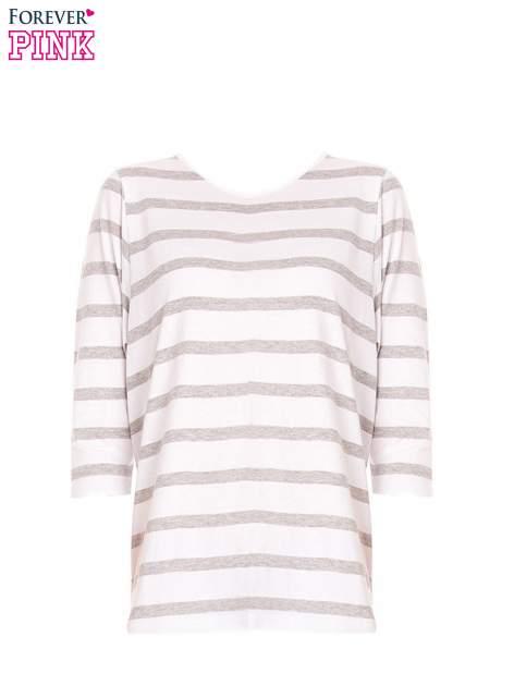 Bluzka basic w biało-szare paski                                  zdj.                                  6