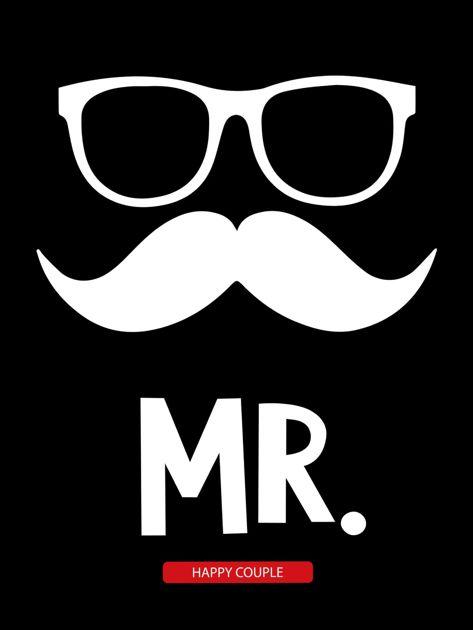 Bluzka czarna męska dla szczęśliwej pary MISTER                              zdj.                              2