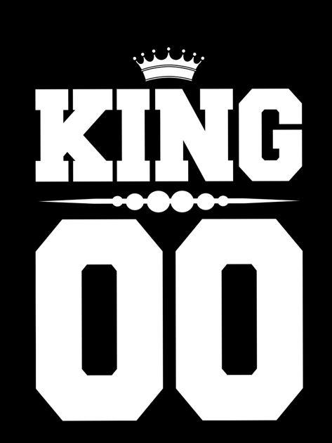 Bluzka czarna męska z napisem z tyłu KING dla par                                  zdj.                                  2