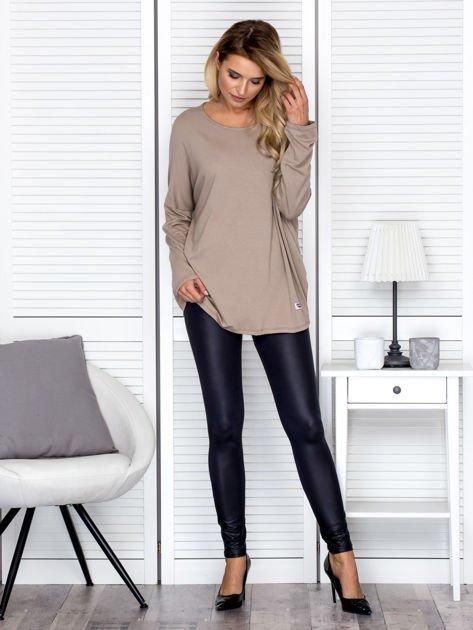Bluzka damska oversize beżowa                              zdj.                              4