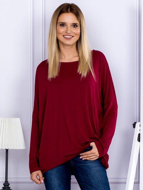 Bluzka damska oversize bordowa                              zdj.                              1