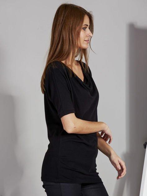 Bluzka damska z lejącym dekoltem czarna                              zdj.                              5
