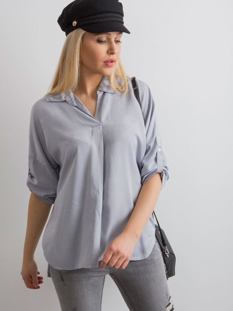 Bluzka koszulowa szara