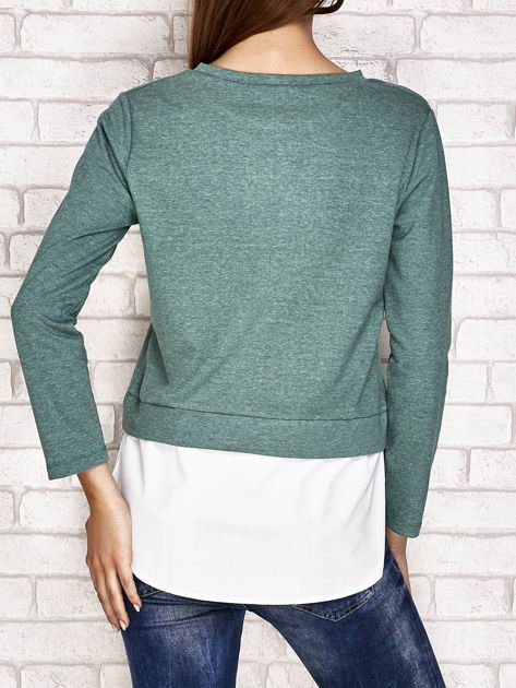 Bluzka z koszulą zielona