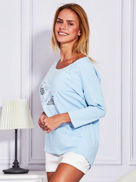 Bluzka z trampkami jasnoniebieska                                  zdj.                                  5