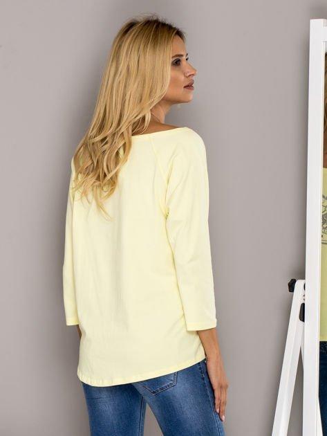 Bluzka z trampkami żółta                                  zdj.                                  2