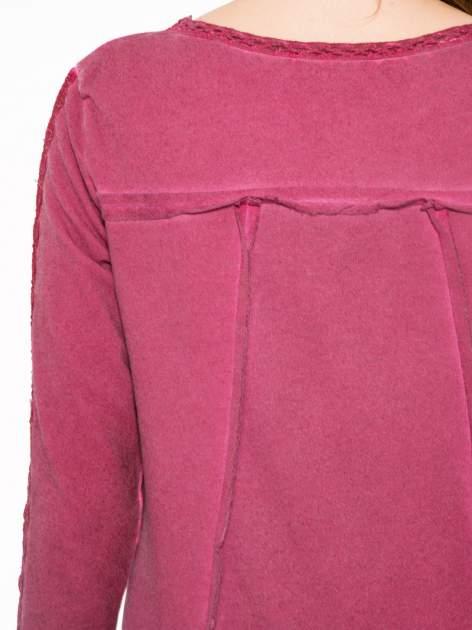 Bordowa bluza z koronkowymi aplikacjami                                  zdj.                                  7