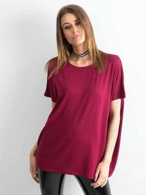 Bordowa bluzka Oversize                              zdj.                              1