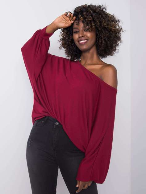 Bordowa bluzka oversize Manuela RUE PARIS