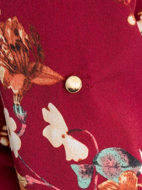 Bordowa bluzka plus size Spring                              zdj.                              6