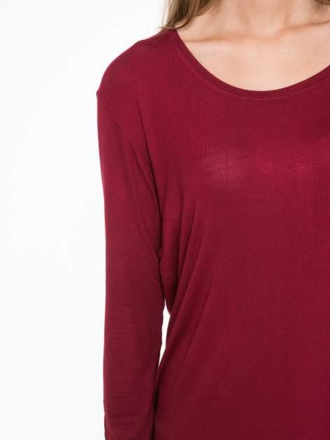 Bordowa bluzka z wycięciami na plecach                                  zdj.                                  6