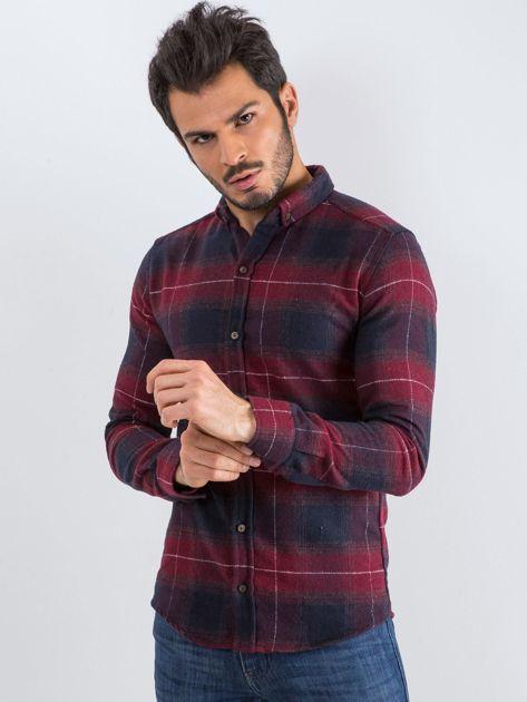 Bordowa koszula męska Esquire                              zdj.                              1