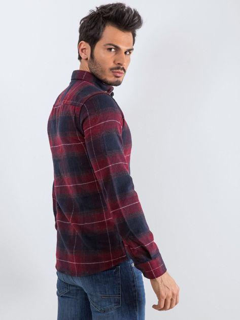 Bordowa koszula męska Esquire                              zdj.                              4