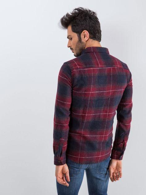Bordowa koszula męska Esquire                              zdj.                              2