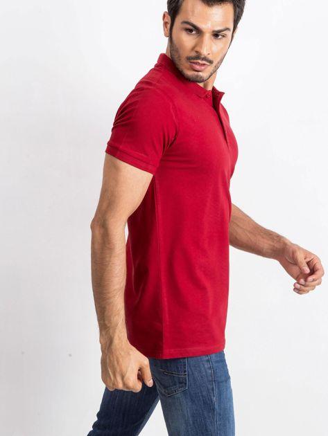 Bordowa męska koszulka polo Numerous                              zdj.                              3