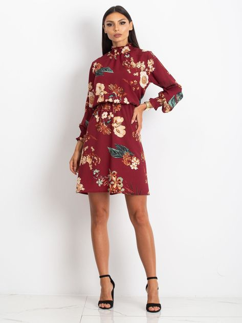 Bordowa sukienka Supply                              zdj.                              4