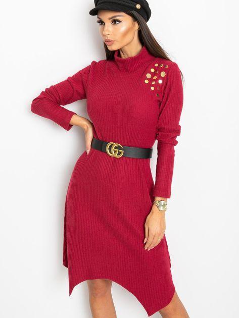 Bordowa sukienka Una                              zdj.                              5