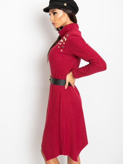 Bordowa sukienka Una                              zdj.                              3
