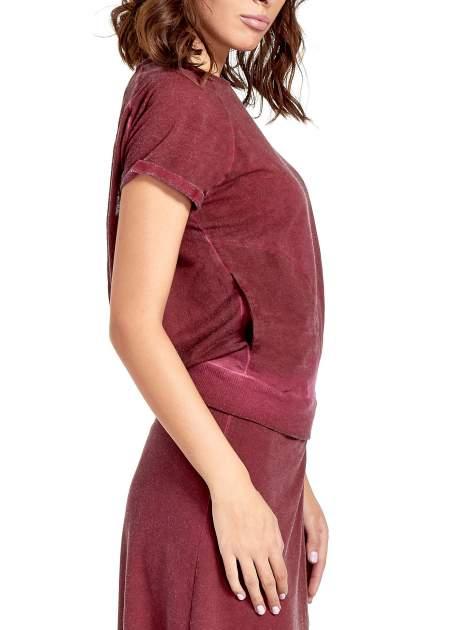 Bordowa sukienka maxi z dekoltem na plecach                                  zdj.                                  6